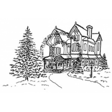 Victorian House Cling Stamp