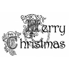 Victorian Merry Christmas Cling Stamp