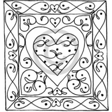 Wave Heart Cling Stamp