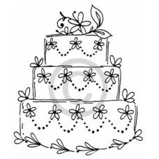 Wedding Cake Cling Stamp