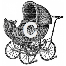 Wicker Carriage Art Acetate