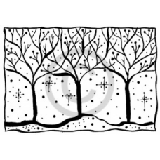 Winter Trees Cling Stamp
