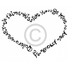 Words of Love Cling Stamp