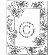 Woven Poinsettia Cling Stamp
