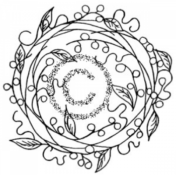 Wreath Sketch Cling Stamp