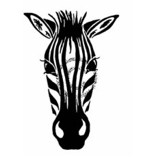 Zebra Cling Stamp