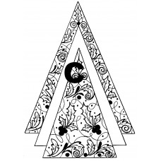 Triple Triangle Cling Stamp 1279R