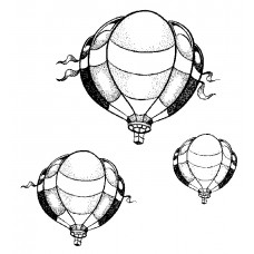 Up, Up, and Away (3 air balloons) Cling Stamp