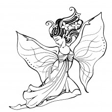 Winds of Spring Cling Stamp