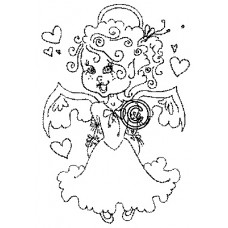 Jasmine Angel Cling Stamp