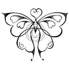 Butterfly Hearts Cling Stamp