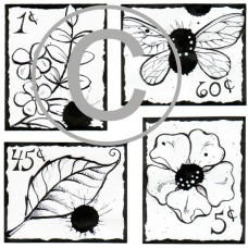 Spring postage Stamps Cling Stamp