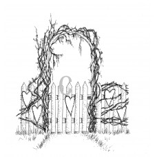 Garden Gate Cling Stamp
