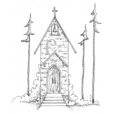 Country Chapel Cling Stamp