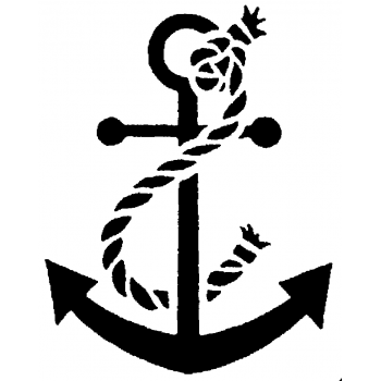 Anchor Cling Stamp 724