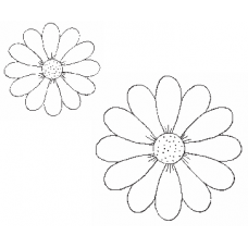 Spring Flowers Cling Stamp Set (2 stamps)