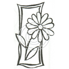 Daisy Window Cling Stamp 904
