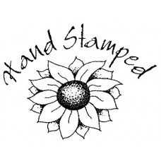 (421)  Hand Stamped Sunflower Unmounted Stamp
