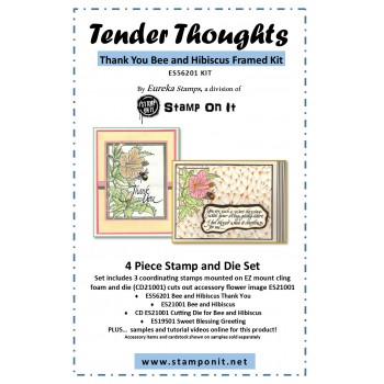 Thank You Hibiscus and Bee Framed Stamp Kit ES-56201