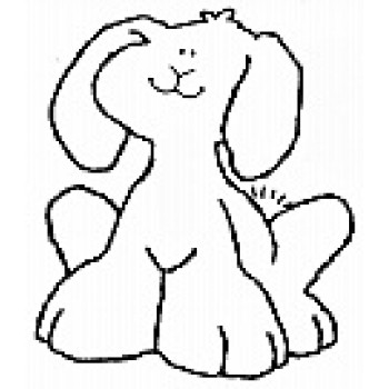 Smiling Bunny Digital Stamp