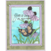 On My Heart Butterfly and Daisy Framed Stamp Kit  ES-55901KIT