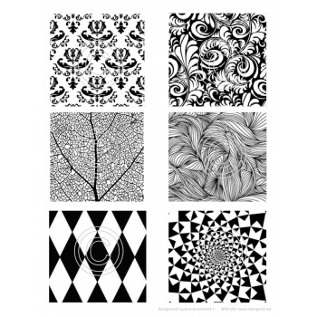 Background Squares, Assortment 1 Art Acetate