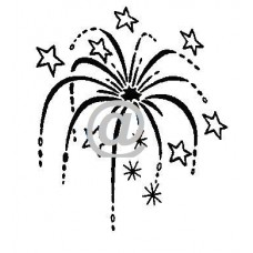 Fireworks Art Acetate Black Print