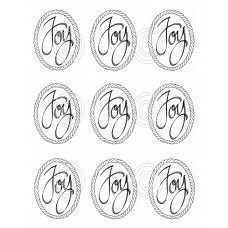 Joy Small Ovals (9), Art Acetate