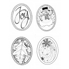 Seasonal Ovals Art Acetate