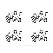 Musical Notes Art Acetate Silhouette