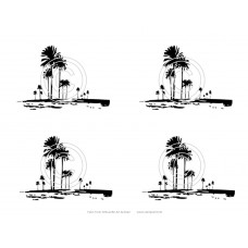 Palm Trees Art Acetate Silhouette