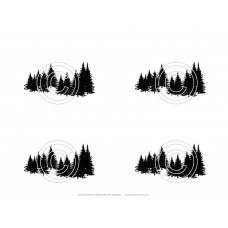 Stand of Pines Art Acetate Silhouette