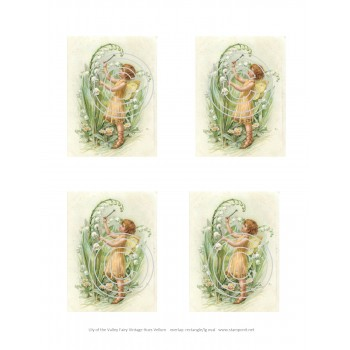 Vintage Hues Vellum Lily of the Valley Fairy