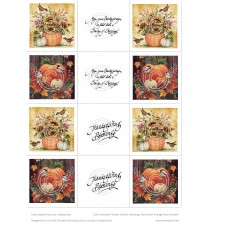 Fall Feathered Friends Blessings Slimline Vintage Hues Acetates