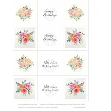 Shades of Florals 1 Slimline Birthday Wishes Vintage Hues Acetate