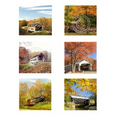 Covered Bridges 1, Vintage Hues Art Acetate